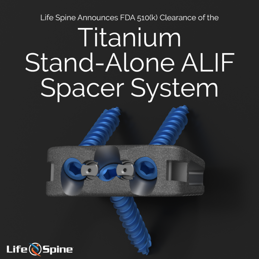 Stand Alone ALIF 510k Clearance