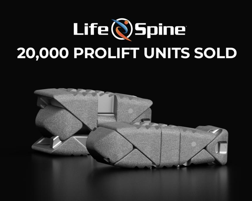 20,000 ProLift Units Sold