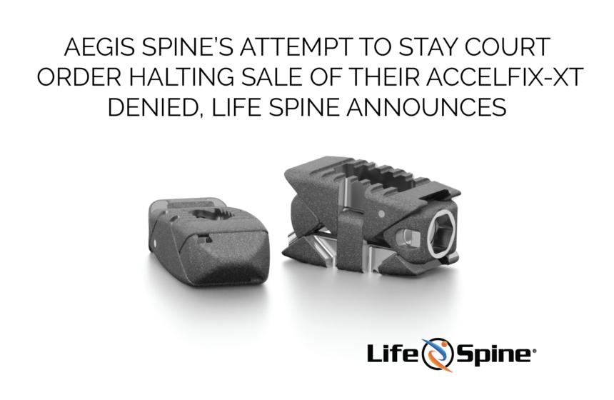 Aegis Spine Appeal Denied